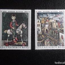 Sellos: LUXEMBURGO. 741/42 CUADROS DE JOSEPH KUTTER. 1969. SELLOS NUEVOS Y NUMERACIÓN YVERT. Lote 68969413