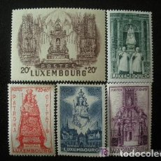 Sellos: LUXEMBURGO 1945 IVERT 367/71 *** PRO OBRA DE SOCORRO DE LA GRAN DUQUESA - RELIGION. Lote 75622915
