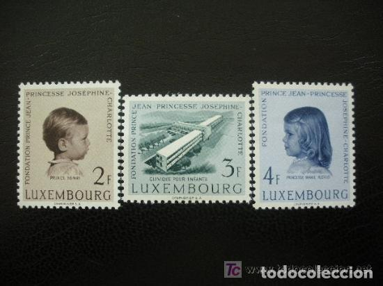 LUXEMBURGO 1957 IVERT 528/30 *** PRO HOSPITAL INFANTIL - FUNDACIÓN PRINCIPE JUAN - PRINCESA JOSEFINA (Sellos - Extranjero - Europa - Luxemburgo)