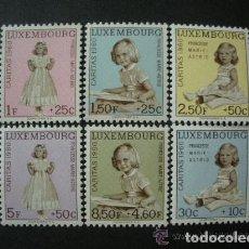 Sellos: LUXEMBURGO 1960 IVERT 589/94 *** PRO OBRAS SOCIALES - CARITAS - PRINCESA MARIE ASTRID - CASA REAL . Lote 76013883