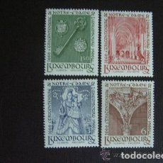 Sellos: LUXEMBURGO 1966 IVERT 680/83 *** TRICENTENARIO DE NOTRE-DAME DE LUXEMBURGO - MONUMENTOS. Lote 76262095