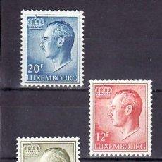 Sellos: LUXEMBURGO 1975 IVERT 869/71 *** GRAN DUQUE JUAN - MONARQUIA. Lote 77334965
