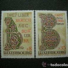 Sellos: LUXEMBURGO 1983 IVERT 1026/7 *** BIBLIA GIGANTE DE LA ABADÍA DE ECHTERNACK - RELIGIÓN. Lote 78034421