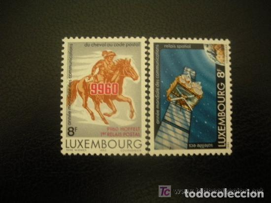 LUXEMBURGO 1983 IVERT 1028/9 *** AÑO MUNDIAL DE LAS COMUNICACIONES (Sellos - Extranjero - Europa - Luxemburgo)