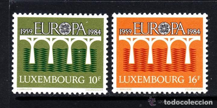 LUXEMBURGO 1984 IVERT 1048/9 *** EUROPA - 25º ANIV. CONFERENCIA EUROPEA CORREOS Y TELECOMUNICACIONES (Sellos - Extranjero - Europa - Luxemburgo)