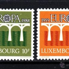 Sellos: LUXEMBURGO 1984 IVERT 1048/9 *** EUROPA - 25º ANIV. CONFERENCIA EUROPEA CORREOS Y TELECOMUNICACIONES. Lote 78036101