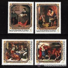 Sellos: LUXEMBURGO 1984 IVERT 1050/53 *** CUADROS DEL MUSEO JEAN PIERRE PESCATORES - PINTURA. Lote 78036309