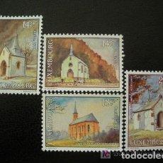 Sellos: LUXEMBURGO 1991 IVERT 1234/37 *** CARITAS - IGLESIAS. Lote 79013757