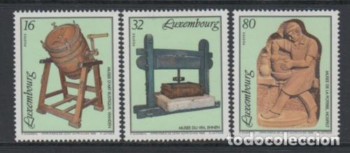 LUXEMBURGO 1995 IVERT 1327/9 *** MUSEOS (II) - MUSEO DE ARTE RUSTICO (Sellos - Extranjero - Europa - Luxemburgo)