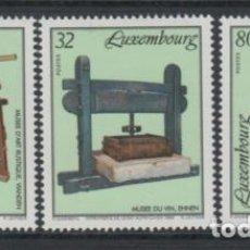 Sellos: LUXEMBURGO 1995 IVERT 1327/9 *** MUSEOS (II) - MUSEO DE ARTE RUSTICO. Lote 79250481