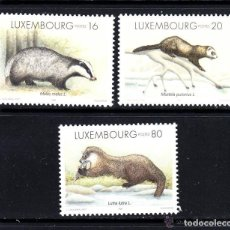 Sellos: LUXEMBURGO 1996 IVERT 1350/2 *** FAUNA - MAMIFEROS MUSTELIDOS. Lote 79313449