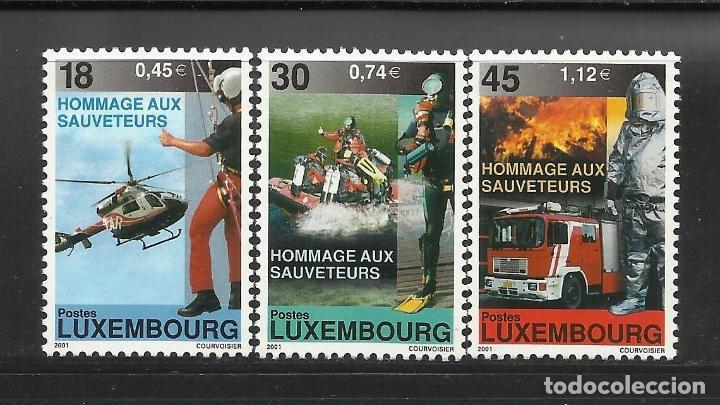 LUXEMBURGO 2001 IVERT 1482/4 *** HOMENAJE A LOS CUERPOS DE SALVAMENTO (Sellos - Extranjero - Europa - Luxemburgo)