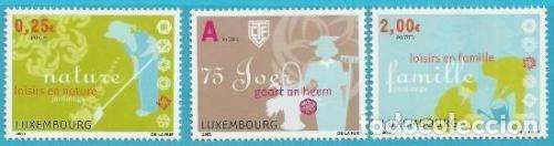 LUXEMBURGO 2003 IVERT 1561/3 *** 75º ANIVERSARIO DE LA LIGA LUSEMBURGUESA DE JARDINEROS (Sellos - Extranjero - Europa - Luxemburgo)