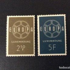 Sellos: LUXEMBURGO Nº YVERT 567/8*** AÑO 1959. EUROPA. Lote 99906315