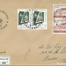 Sellos: 1963. LUXEMBURGO/LUXEMBOURG. MATASELLOS/POSTMARK. CENTENARIO DE LA CRUZ ROJA. RED CROSS CENTENARY.. Lote 111382963