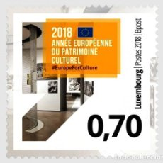 Sellos: LUXEMBURGO 2018 AÑO EUROPEO DEL PATRIMONIO CULTURAL. Lote 114928743