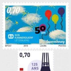 Sellos: LUXEMBURGO 2018 SERIE COMEMORACIONES 2018. Lote 114929735