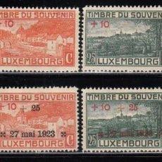 Sellos: LUXEMBURGO , 1921 - 1923 YVERT Nº 137 / 139 , 141 , 142 / 144 / * /. Lote 117914631