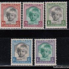 Sellos: LUXEMBURGO , 1931 YVERT Nº 234 / 238 / * /. Lote 117914895