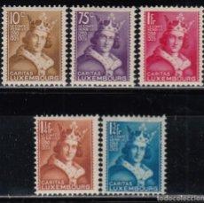 Sellos: LUXEMBURGO , 1933 YVERT Nº 244 / 248 / * /. Lote 117915367