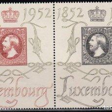 Sellos: LUXEMBURGO, 1952 YVERT Nº 453 / 454 , 454A / * /. Lote 117951635