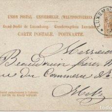 Sellos: 1879. LUXEMBURGO/LUXEMBOURG. ENTERO POSTAL/STATIONERY. CIRCULADO DE LUXEMBURGO A METZ.. Lote 119147347