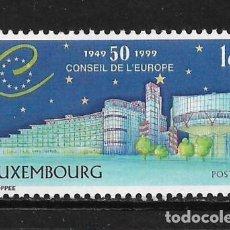 Sellos: LUXEMBURGO 1999 CONSEJO DE EUROPA, 50 ° ANIVERSARIO. MNH - 5/20. Lote 125345651