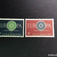 Sellos: LUXEMBURGO Nº YVERT 587/8*** AÑO 1960. EUROPA. . Lote 130367158