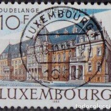 Sellos: LUXEMBURGO 1983 ~ ARQUITECTURA: AYUNTAMIENTO DE DUDELINGE ~ SELLO USADO BUENO. Lote 132288066