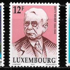 Sellos: A FACIAL. LUXEMBURGO 1990. CONMEMORACIONES YT 1190-92. NUEVO (MNH). Lote 132765950