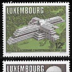 Sellos: LUXEMBURGO 1988. ANIVERSARIOS. MONET. BANCO EUROPEO INVERSION. YT 1157-58 NUEVO (MNH). Lote 132813626