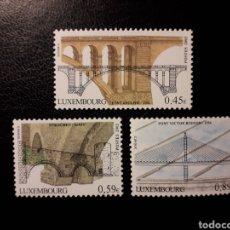 Sellos: LUXEMBURGO. YVERT 1554/6. SERIE COMPLETA NUEVA SIN CHARNELA. PUENTES.. Lote 136492401