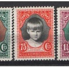 Sellos: LUXEMBURGO 1929 - PRINCESA MARIA GABRIELA - YVERT Nº 214-218*. Lote 136745586