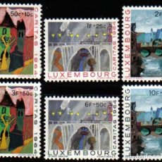 Sellos: LUXEMBURGO 1964 - CARITAS - OBRAS SOCIALES - PUENTES - YVERT Nº 654-659**. Lote 136746258