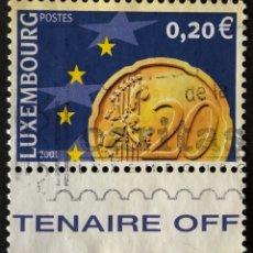Sellos: SELLO EN USADO DE LUXEMBURGO 0,20€ 2001 º. Lote 147442846
