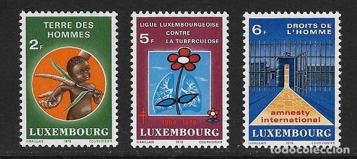 LUXEMBURGO. YVERT NSº 923/25 NUEVOS Y CON DEFECTOS AL DORSO (Sellos - Extranjero - Europa - Luxemburgo)