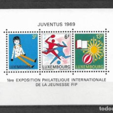 Sellos: 189 - LUXEMBURGO 1969 ** MNH - 1ST INTL. YOUTH PHIL. EXHIB., JUVENTUS. Lote 149615762