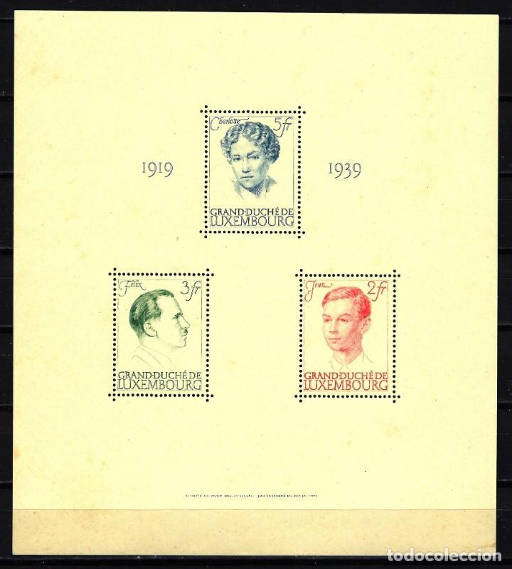 1939 LUXEMBURGO YVERT MICHEL HB 3 MNH** - 20º ANIVERSARIO DEL REINADO DE LA GRAN DUQUESA CARLOTA (Sellos - Extranjero - Europa - Luxemburgo)