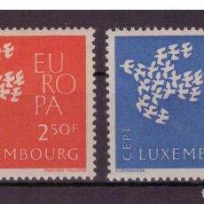 Sellos: LUXEMBURGO AÑO 1961 YV 601/02*** EUROPA - PALOMA DE LA PAZ - AVES . Lote 154726654
