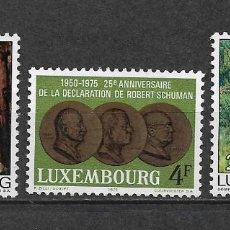 Sellos: LUXEMBURGO 1975 ** NUEVO SC 559 Y 562/563 2.60 - 3/9. Lote 155485434