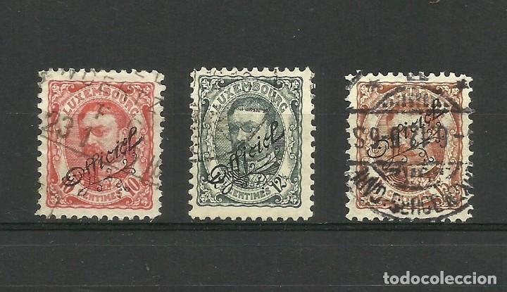 LUXEMBURGO, 1908, OFFICIEL, MI. 81/3, USADOS (Sellos - Extranjero - Europa - Luxemburgo)
