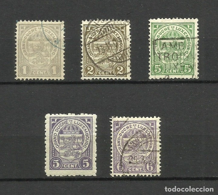 LUXEMBURGO, 1907,1926, MI. 84,85,87,165,88, USADOS (Sellos - Extranjero - Europa - Luxemburgo)