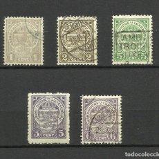 Sellos: LUXEMBURGO, 1907,1926, MI. 84,85,87,165,88, USADOS. Lote 158703456