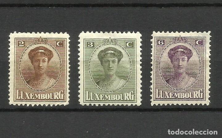 LUXEMBURGO, 1921, MI. 122/4, MH* (Sellos - Extranjero - Europa - Luxemburgo)