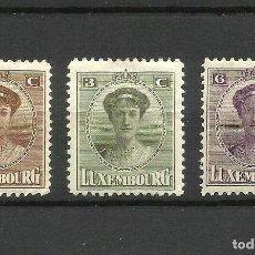 Sellos: LUXEMBURGO, 1921, MI. 122/4, MH*. Lote 158703460