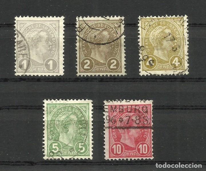 LUXEMBURGO, 1895, MI. 67/71, USADOS (Sellos - Extranjero - Europa - Luxemburgo)