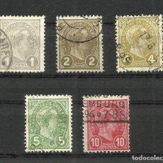 Sellos: LUXEMBURGO, 1895, MI. 67/71, USADOS. Lote 158703468