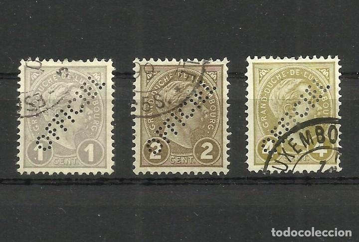 LUXEMBURGO, 1899, OFFICIEL, PERFORADOS, MI. 62/4, USADOS (Sellos - Extranjero - Europa - Luxemburgo)