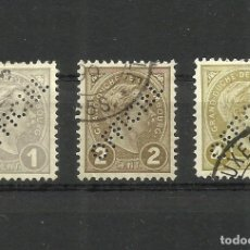 Sellos: LUXEMBURGO, 1899, OFFICIEL, PERFORADOS, MI. 62/4, USADOS. Lote 158703476