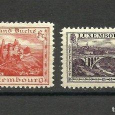 Sellos: LUXEMBURGO, 1921, MI. 134, 136A, MH*. Lote 158703328